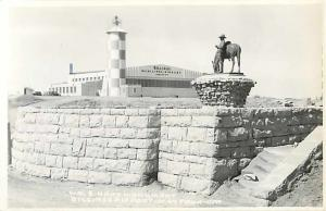 RPPC of the Hart Monument at Billings Airport Montana MT