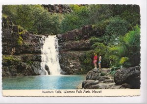 Waimea Falls, Hawaii, 1977 used Postcard