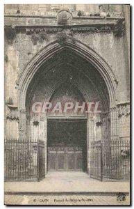 Old Postcard of Caen & # 39Eglise St Jean Portal