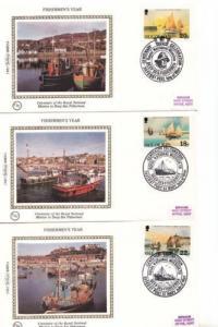 Fishermens Year Isle Of Man Benham 3x First Day Cover