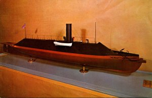 Modewl Of The Confederate Ironclad Warship Merrimack