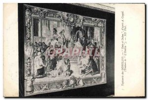 Old Postcard Gobelins Tapestry Enee and Dulon of A after Coypel