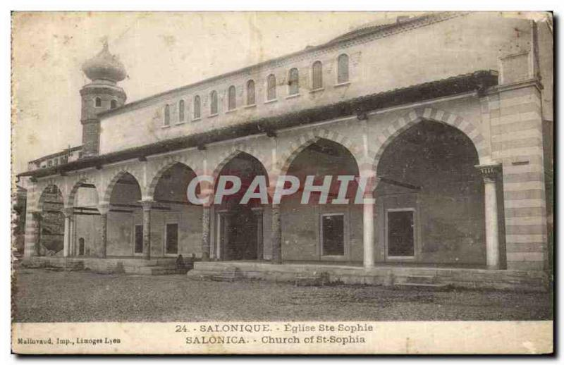 CPA Grece Greece Salonique Eglise Ste Sophie Salonica Church of St Sopha