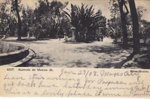 Mexico City - Alameda de Mexico 1908