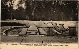 CPA RETHONDES - Emplacement du wagon du Marechal Foch inaugure le 11 (291173)