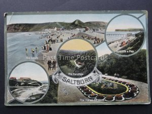 Yorkshire SALTBURN BY THE SEA 5 Image Multiview c1915 by Jay Em Jay
