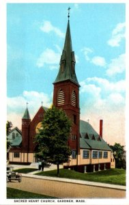 Massachusetts Gardner Sacred Heart Church Curteich