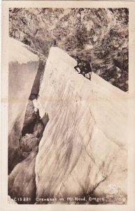 Oregon Mount Hood Crevasse On Mount Hood Real Photo