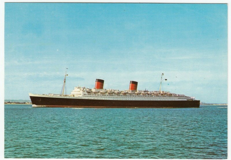 Shipping; Cunard Line RMS Queen Elizabeth PPC, Unposted, PT2800, c 1960's