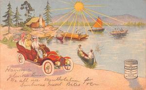 Medicine Advertising Old Vintage Antique Post Card Mentholatum Unused