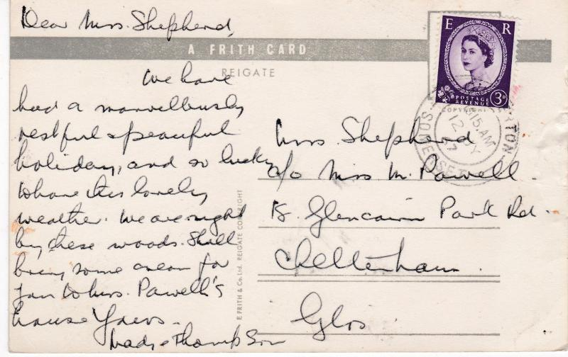 Post Card Somerset DULVERTON The River Barle A Frith Card
