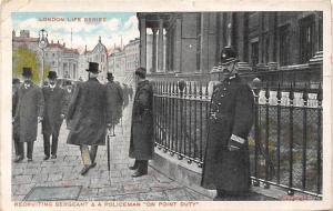 London Life Series, Recruiting Sergeant & Policeman Point Duty 1907