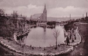 ROCHDALE , England , PU-1905 ; TUCK ; Duck Pond , The Park