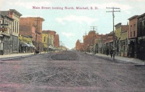 Mitchell South Dakota Main Street Looking North Vintage Postcard JI657353