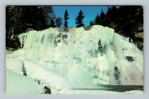 Davis WV, Blackwater Falls State Park In Winter, Chrome West Virginia Postcard