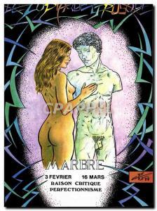 Postcard Modern Naked erotic Charles Berg Zodiac Etruscan Marble