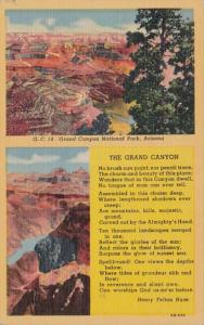 Arizona Grand Canyon National Park Poem By Henry Felton Huse Curteich