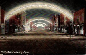 Michigan Flint Arches By Night 1908