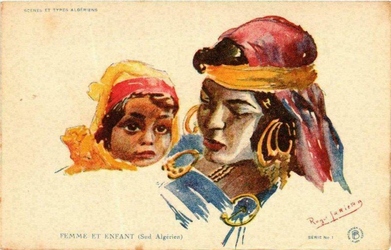 CPA AK Scenes et Types Algériens Femme et Enfants Algerie (735840)