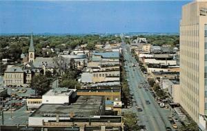 Appleton Wisconsin~W College Avenue~Pennys~Sears~Bank~Church~60s Cars in Street
