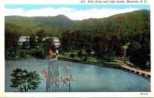 North Carolina Montreat Alba Hotel and Lake Susan Curteich