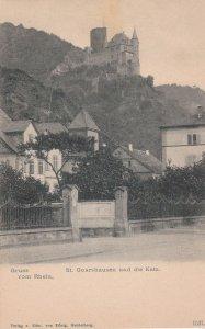 ST. GOARSHAUSEN, Rhineland-Palatinate, Germany, 1900-10s; Gruss vom Rhein