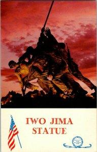 Iwo Jima Statue Arlington VA Virginia Vintage Postcard Standard View Card