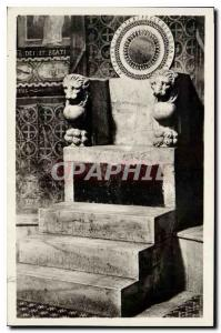 Old Postcard Roma S Maria in Cosmedin Sedia Episcopal