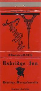 Uxbridge, Mass/MA Matchcover, Uxbridge Inn/Taft Lounge