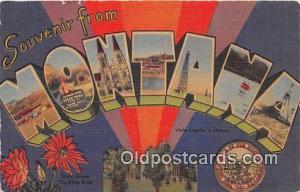 Linen Montana, USA Postcard Post Cards Montana, USA Linen