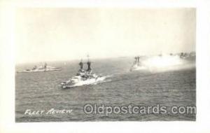 Fleet Review Real Photo Military Postcard Postcards  Fleet Review