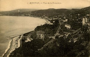 France - Menton. View of the Frontier