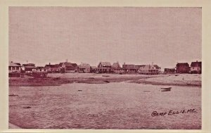 CAMP ELLIS MAINE~BEACH VIEW & COTTAGES~JIM'S RED & WHITE STORE POSTCARD