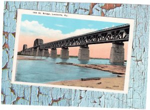 14th Street Bridge, Louisville, Kentucky Postcard Vintage