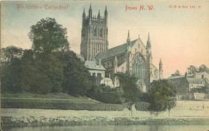 United Kingdom, Worcester Cathedral from N.W. early 1900s...