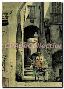 Postcard Moderne Menton Old Street