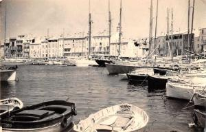 St Tropez France Harbor View Real Photo Vintage Postcard JB626162