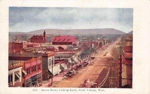 NORTH YAKIMA Second Street Looking South Washington Scene ca 1907 Postcard