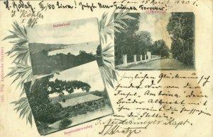indonesia, MOLUCCAS MALUKU, Multiview, Buitenbaai, Olifantstraat (1901) Postcard