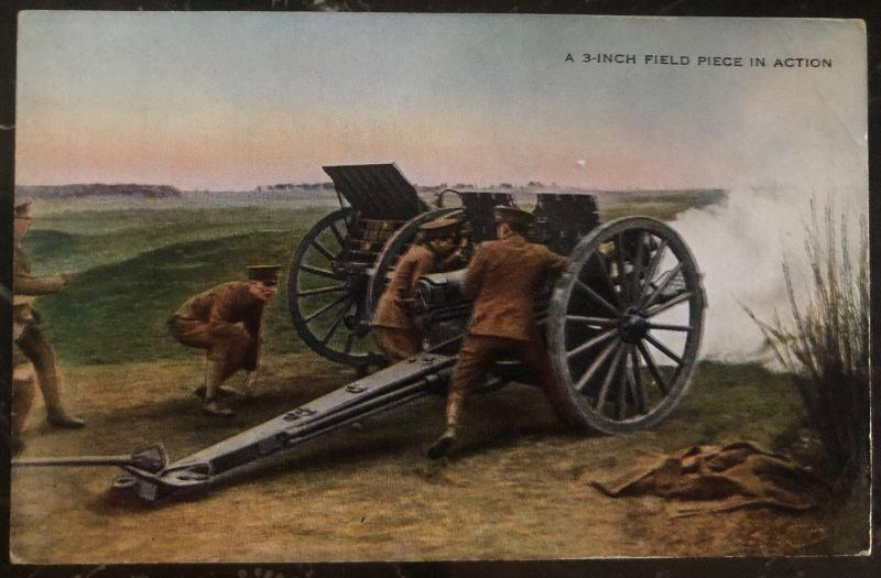Mint Usa Army Picture Postcard PPC A 3 Inch Field Piece In Action