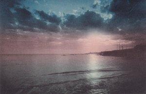 MONTEVIDEO, Uruguay, 1900-1910s; Playa Ramirez, Puesta Del Sol