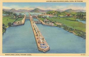 Miraflores Locks, Panama Canal, 30-40s