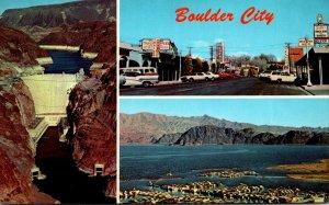 Nevada Boulder City Main Street & Hoover Dam 1972