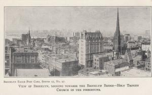 View of BROOKLYN, NYC, 1901-07; Holy Trinity Church in the Foreground
