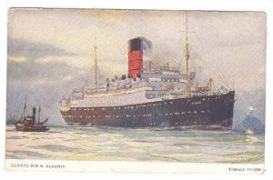 Oceanliner/Steamer, Cunard R.M.S. Alaunia, Tonnage 14,000, Lighthouse, 1900-1...