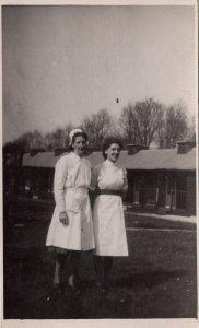 Senior & Hospital Ward Nurse Nurses Antique Plain Back Portrait Postcard