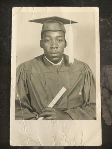 Mint Postcard Black Americana RPPC African American Man High School Graduate