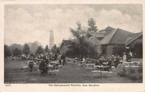 The Refreshment Pavilion, Kew Gardens, London, England, Early Postcard, Unused