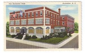 The Rochester Club Rochester NY Vintage Curteich Linen 1943 Postcard
