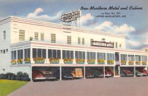 Marlboro Maryland Motel And Cabins Linen Antique Postcard K15878